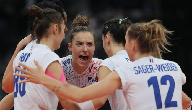 欧锦赛法国女排3-2逆袭克罗地亚 时隔8年重返8强