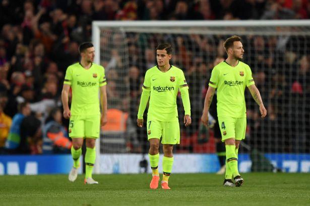 利物浦偷笑!巴萨欧冠出局又输钱 得给红军500万
