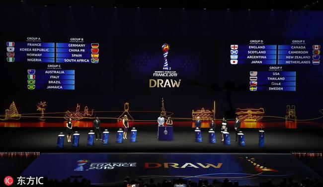 女足世界杯抽签现场
