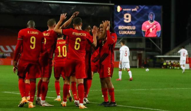 卢卡库2球,比利时4-2夺头名