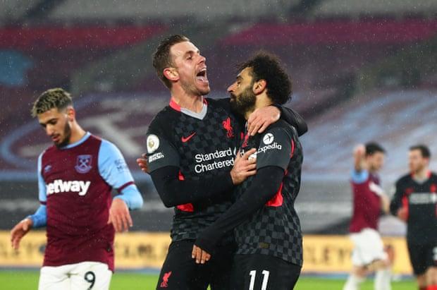 利物浦客场3比1力克西汉姆