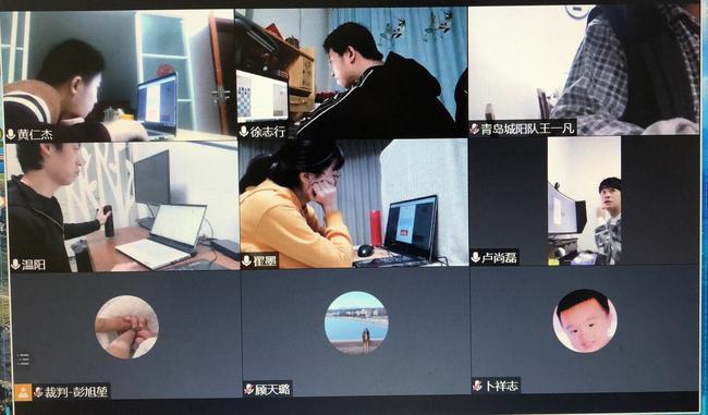 青岛城阳队、济南银丰队视频监局画面