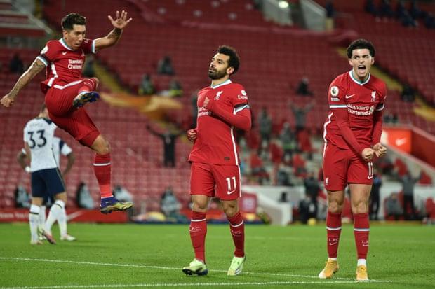 英超-菲尔米诺90分钟绝杀 利物浦2-1险胜热刺领跑