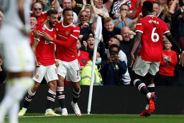 英超-博格巴4助攻 B费帽子戏法 曼联5-1夺开门红