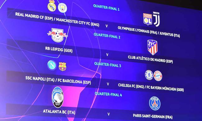 欧冠8强抽签