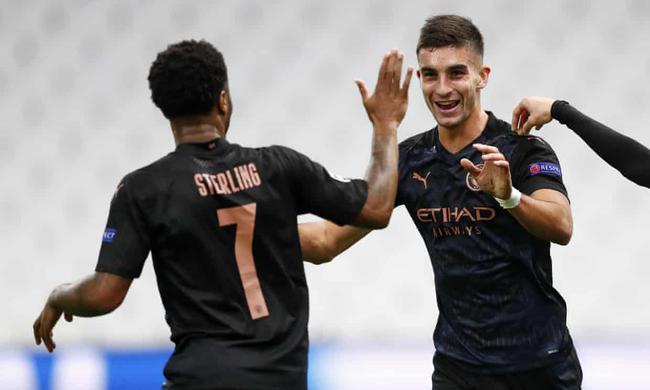 欧冠-丁丁两助攻 斯特林传射 曼城客场3-0胜马赛