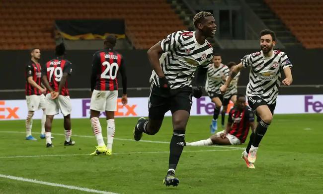 欧联-博格巴替补复出致胜球 曼联客胜AC米兰进8强