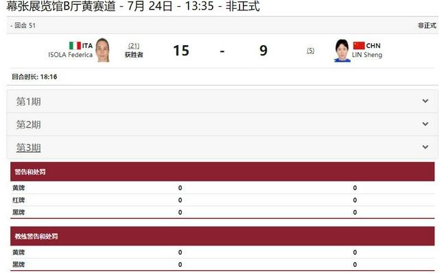 奥运女重个人赛:林声不敌意大利选手 止步16强