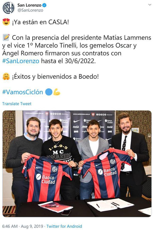 申花外援罗梅罗签约圣洛伦索 与亲兄弟一起加盟