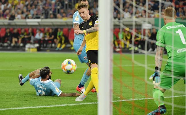 德国杯-罗伊斯破僵 帕科任意球 多特2-0客胜晋级
