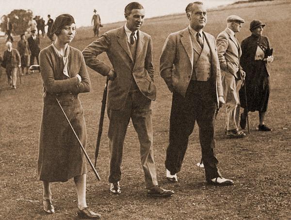 1933年沃普斯顿混合四人赛中的乔伊斯、罗杰和托利