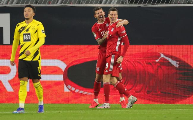 德甲-莱万传射+两球无效 哈兰德破门 拜仁3-2多特