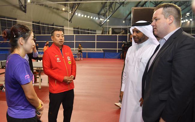 国乒在卡塔尔备战受到优质待遇。中国乒协供图