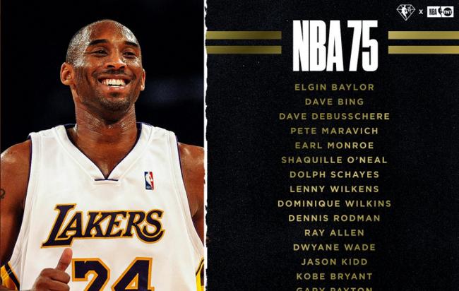 湖人现役四巨头入选NBA75杰 OK组合携手亮相