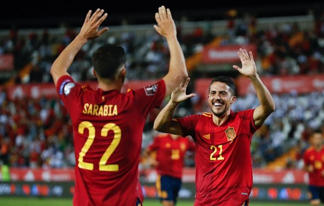 世预赛-索莱尔连场破门 曼城边锋进球 西班牙4-0