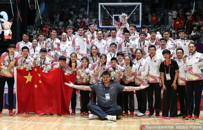 国际篮联最新排名:男篮亚洲第4 女篮国际第9
