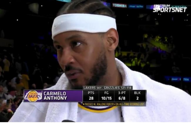 安东尼:在NBA的19年 仍可统治赛场!充满激情