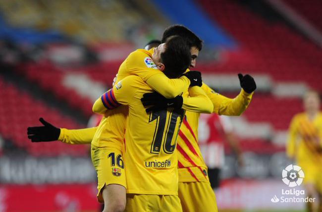 西甲-梅西双响 佩德里传射 巴萨3-2夺客场3连胜