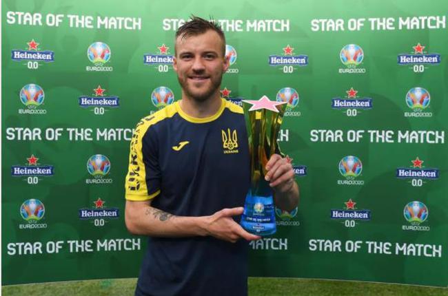进球+助攻  英超中场获评乌克兰与北马其顿比赛最佳