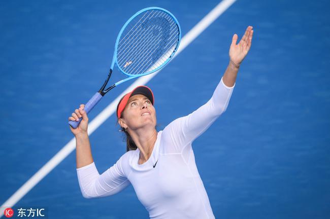 莎拉波娃在比赛中