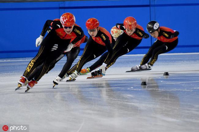 中国短道速滑队在京模拟世锦赛