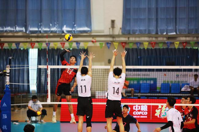 十四运会青年男排潍坊赛区第二日 云南3-1胜辽宁