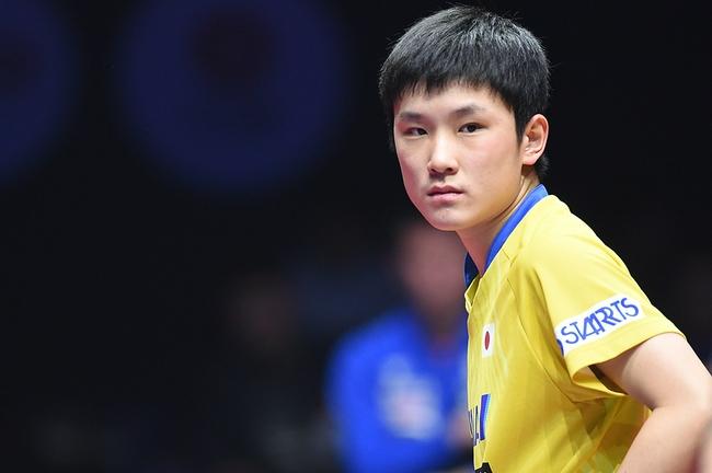 张本智和祝贺日本女团获得银牌 男队也要拿奖牌