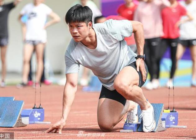 冠军赛男子百米预赛苏炳添10秒13第一 谢震业第四