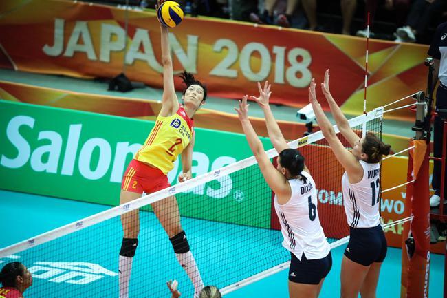 中國女排3-0破美國不敗金身 提前鎖定世錦賽6強