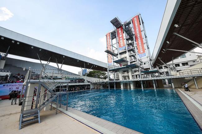 中国首个固定高台跳水跳台投入行使