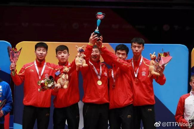 中国男团夺冠