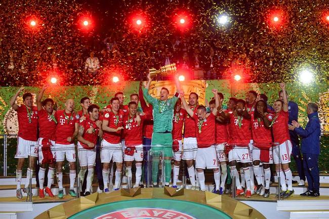 德国杯-莱万2球科曼破门 拜仁3-0完胜莱比锡夺冠