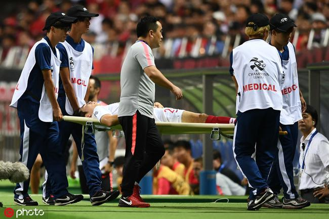 上港官方确认杨世元十字韧带撕裂 10月初赴德手术