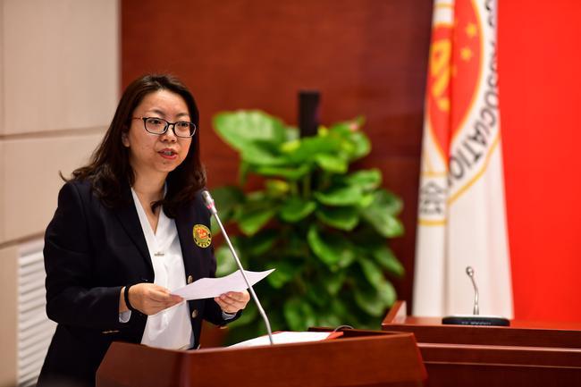 中国田径协会副秘书长、主席办兼综相符部主任王晓莹