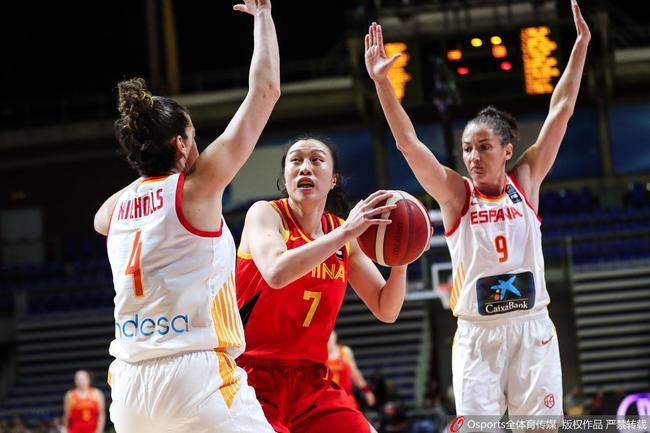 中国女篮2分险胜西班牙!第九次打进奥运会