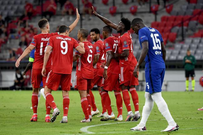 欧冠-莱万2传2射 拜仁4-1双杀切尔西 总分7-1晋级