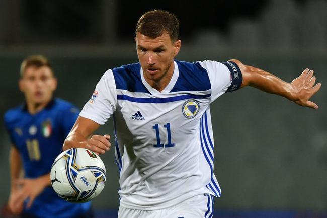欧洲国家联赛A1组首轮在佛罗伦萨弗兰基球场开始1场较量,意大利1比1平波黑,终结11连胜