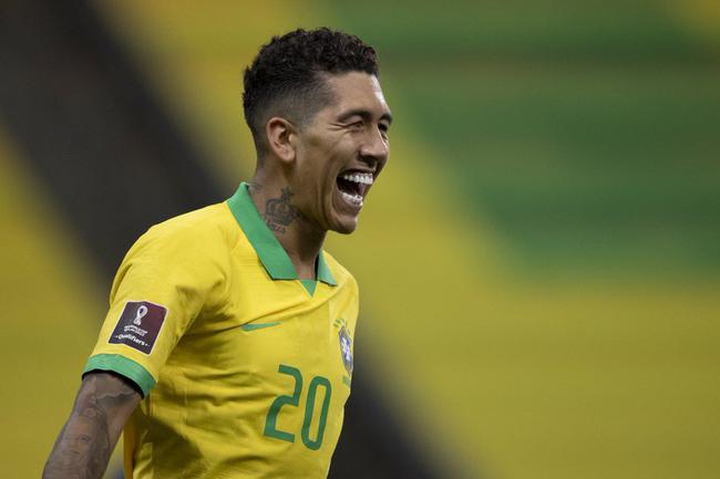 世预赛-内马尔2助 菲尔米诺双响库鸟破门 巴西5-0