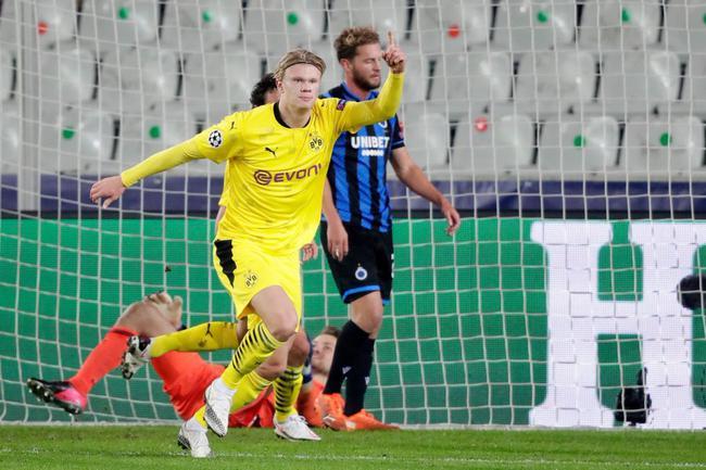 欧冠-哈兰德2球多特3-0升榜首 拉齐奥1-1平居次席