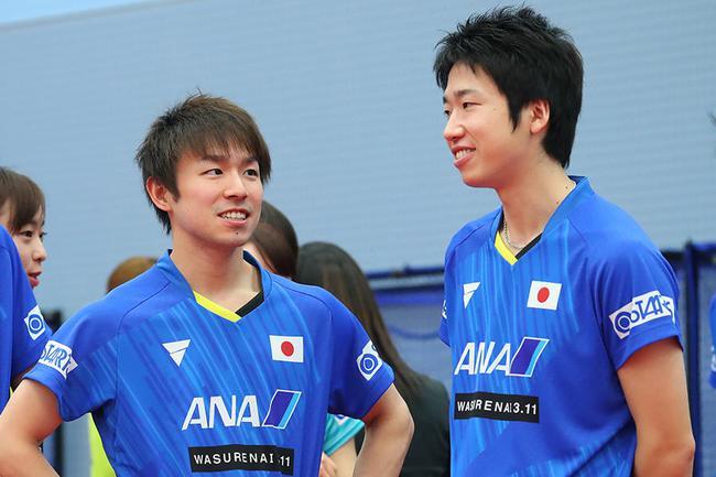 日本男乒左撇子男双组合出战奥运 志在打败中国