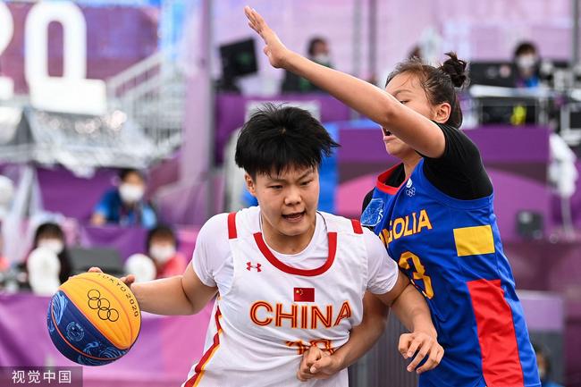 中国三人女篮21-9轻松战胜蒙古 排名升至第二