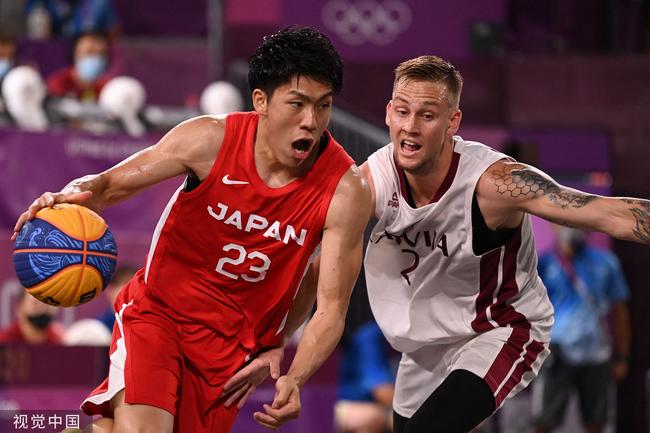拉脱维亚险胜进四强  日本男女3人篮球皆出局