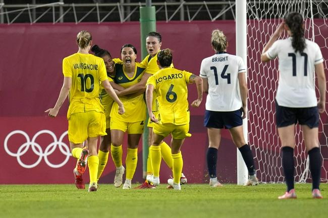 奥运女足-澳大利亚加时赛4-3胜英国 晋级四强