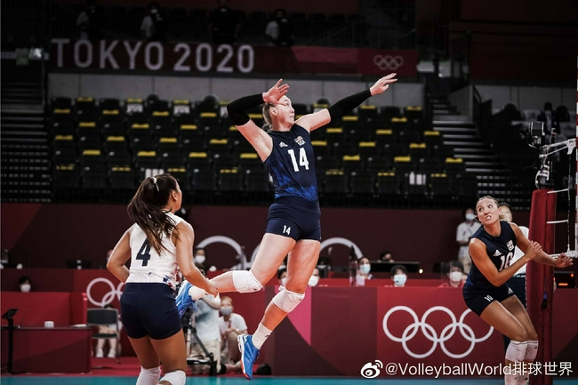 美国女排3-0多米尼加连续四届奥运会晋级4强