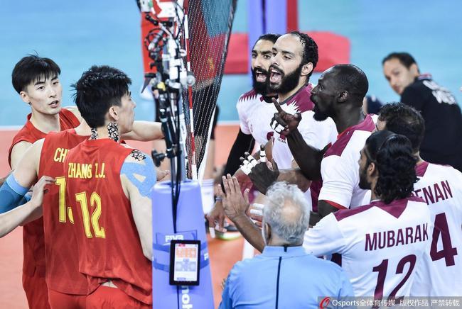 中国男排与卡塔尔男排险些爆发冲突