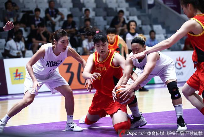 邵婷17分6篮板 中国女篮胜朝韩联队摘亚运金牌