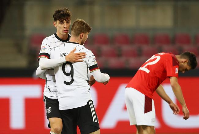 欧国联-切尔西双枪传射格纳布里脚后跟 德国3-3平