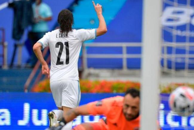 卡瓦尼现在正跟从乌拉圭国家队效能