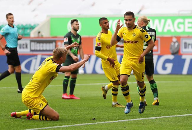 德甲-桑乔小阿扎尔助攻 两飞翼破门 多特2-0狼堡