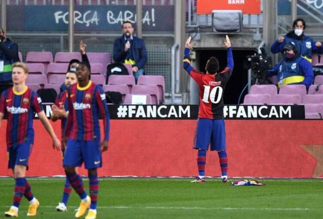 科曼赞梅西致敬马拉多纳之举:这是足球美好一刻